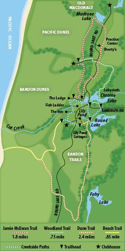 Bandon Dunes Oregon Map.Bandon Dunes Hiking Trails Oregon Coast Magazine