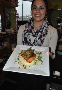Saffron Salmon's signature dish
