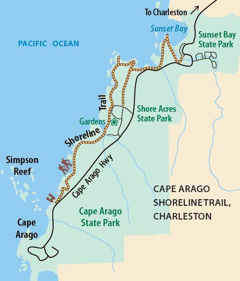 Cape Arago Shoreline Trail, Charleston